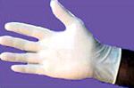 Disposable Latex Lightly Powdered Gloves x 100